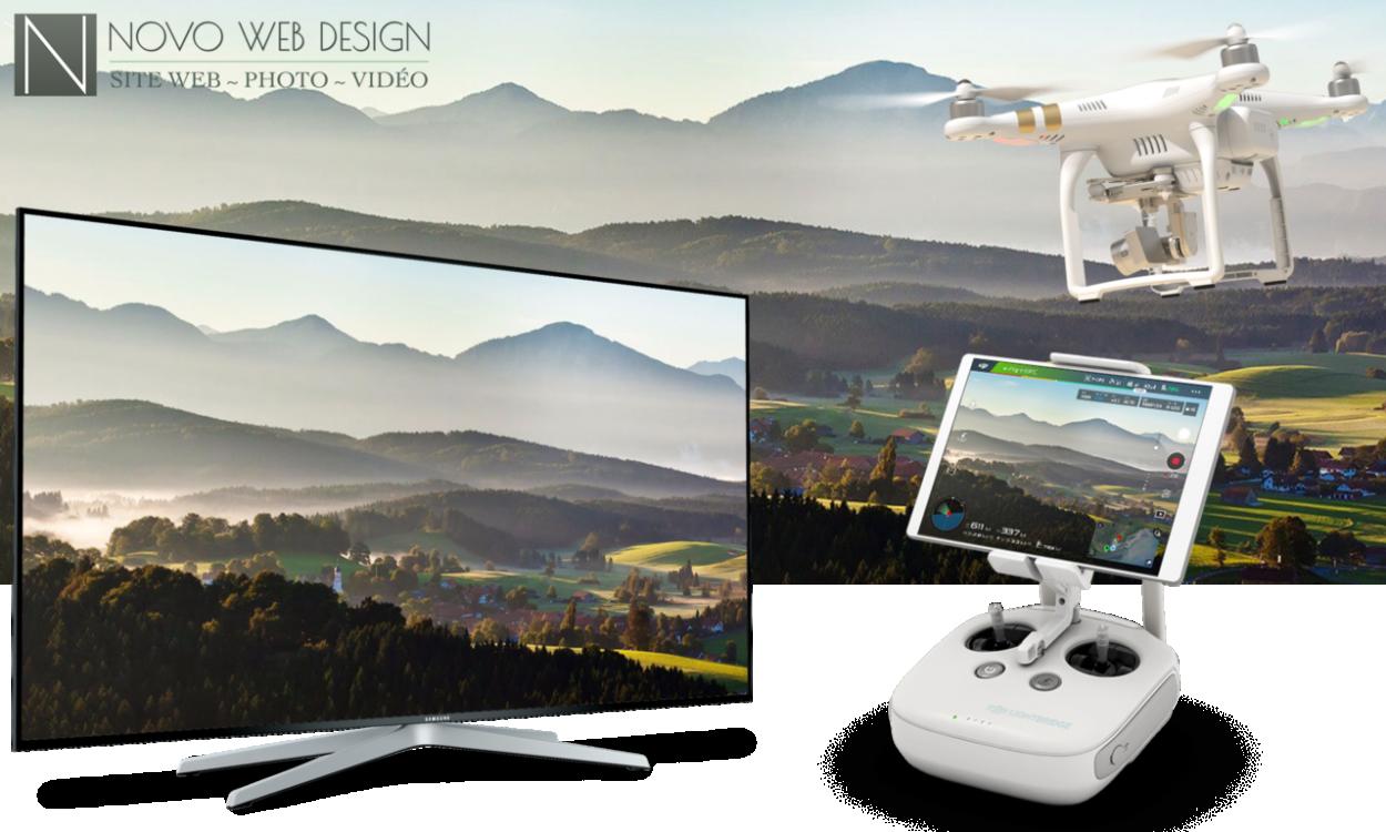 Écran géant pour drone